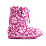 Charming pink  womens slippers Photo Collection , Gorgeous Womens Slipper Boots Picture Gallery In Shoes Category