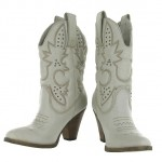 Charming white  cowgirl boots product Image , Wonderful Cheap Cowgirl Boots Under Collection In Shoes Category