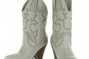 Shoes , Wonderful Cheap Cowgirl Boots Under Collection : Charming white  cowgirl boots product Image