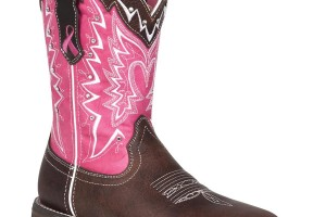 Shoes , Unique  Pink Cowgirl Boots product Image : Durango Pink Ribbon Western Boots