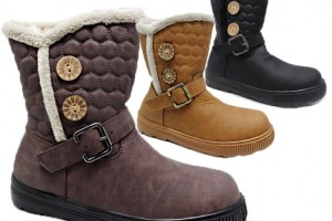 750x750px Charming  Fur Lined Womens Boots product Image Picture in Shoes