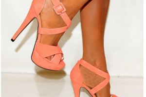 Shoes , Gorgeous High Heels Pink Peach Product Ideas : Excellent  peach high heels Product Ideas