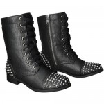 Excellent  short boots for women , Beautiful Black Moto Boots For Women  Product Ideas In Shoes Category