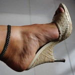 Gold  sexy high heel shoes , Photo Gallery Of High Heel Mules Product Image In Shoes Category