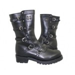 Gorgeous black  cheap boots for women , Beautiful Black Moto Boots For Women Product Ideas In Shoes Category