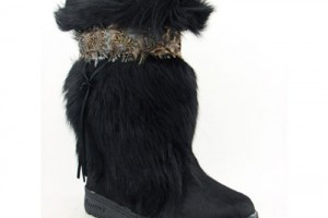 Shoes , Lovely  Furry BootsProduct Lineup : Gorgeous black furry boots for womens Collection