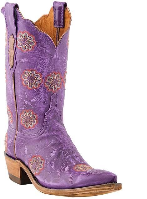 Shoes , Charming Purple Cowboy Boots Product Image :  Gorgeous Boys Cowboy Boots