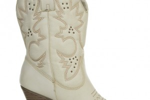 Shoes , Wonderful Cheap Cowgirl Boots Under Collection : Gorgeous white  cowgirl boots under 100 product Image