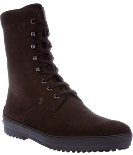 Shoes , Gorgeous Tods BootsProduct Picture : Laceup Boots In Brown For Men Product Picture