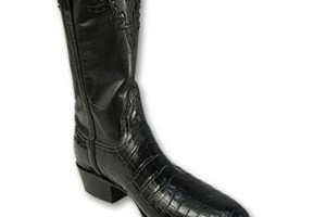 Shoes , Gorgeous Croc Boots Product Ideas : Mens Chocolate Nile Crocodile Boots