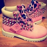 Pink timbs with spikes Product Ideas , Beautiful  Timberlands With Spikes For Women  Collection In Shoes Category