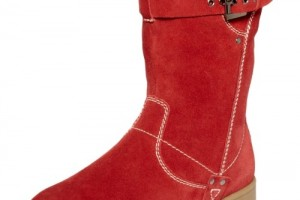 Shoes , Charming Macy\s Boots product Image :  Pretty Red kids timberland boots