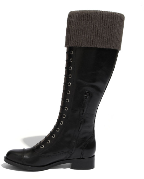 Shoes , Stunning Cole Haan Nike Air Black Leather Boots Collection : Pretty Black Cole Haan And Nike Air Product Ideas