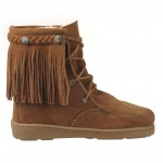 Pretty brown  moccasin fringe boots Product Picture , Wonderful Moccasin BootsProduct Ideas In Shoes Category