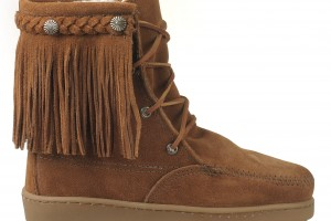 Shoes , Wonderful Moccasin Boots Product Ideas : Pretty brown  moccasin fringe boots Product Picture