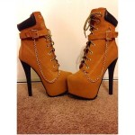 Pretty brown timberland high heel boots for women , Gorgeous Timberland High Heels product Image In Shoes Category