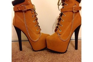 Shoes , Gorgeous Timberland High Heels product Image :  Pretty brown timberland high heel boots for women