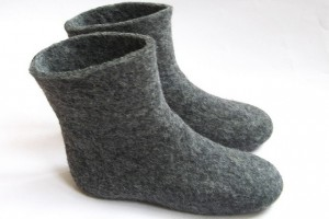 Shoes , Wonderful Slipper Booties Collection : Pretty grey  isotoner slippers Product Ideas