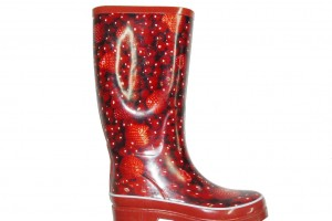 Shoes , 11 Pretty  Women Rubber Boots Product Ideas : Red  rubber boots for women