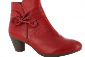 Shoes , 12 Lovely Womens Ankle Boots Collection :  Red womens flat ankle boots Product Picture