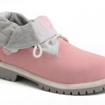 Roll Top Timberland Boots for Women Pink Gray product Image , Beautiful  Timberlands For Women Product Lineup In Shoes Category