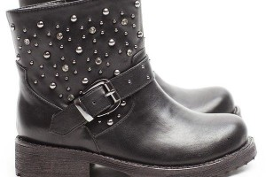 Shoes , Breathtaking  Timberland Female Boots Photo Gallery : Studs And Strass Biker Boot  Image Collection