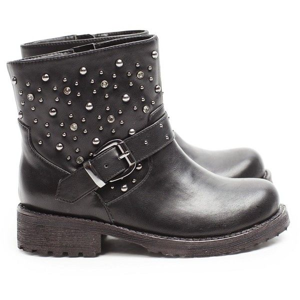 Shoes , Breathtaking  Timberland Female BootsPhoto Gallery : Studs And Strass Biker Boot  Image Collection