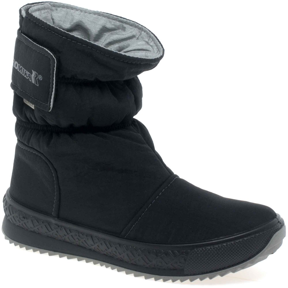 Shoes , Beautiful Snow Boots For Women Product Image : Stunning Black  Boots For Women