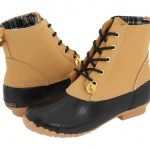 Stunning  Brown  Leather Boots For Women , Beautiful Sporto Duck Boots For WomenCollection In Shoes Category