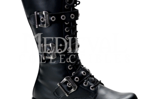 Shoes , Lovely Gothic Combat Boots Product Ideas : Three Buckle Gothic Combat Boots
