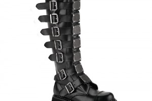 Shoes , Popular Goth Boots Product Lineup : Unique black  high heel boots Product Picture