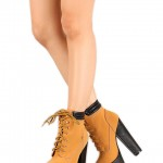 Unique brown  high heels for women Product Lineup , Wonderful  Timberland Style HeelsCollection In Shoes Category