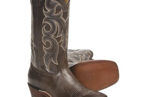 Shoes , Beautiful  Square Toe Cowboy Boots Product Lineup : Unique brown  square toe cowboy boots for men