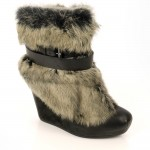 Unique grey  furry boots for women Product Lineup , Lovely  Furry Boots Product Lineup In Shoes Category