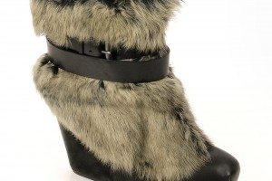Shoes , Lovely  Furry Boots Product Lineup : Unique grey  furry boots for women Product Lineup
