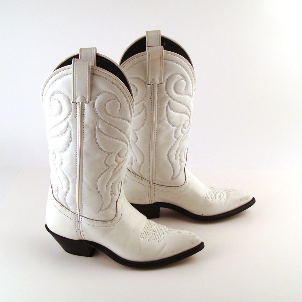 Shoes , Charming White Cowboy BootsPhoto Gallery : White  Women Cowboy Boots Image Gallery