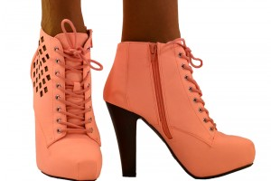Shoes , Gorgeous High Heels Pink Peach Product Ideas : Wonderful brown  high heel stores Product Ideas