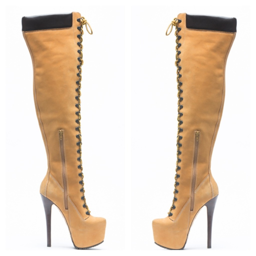Shoes , Gorgeous Timberland High Heelsproduct Image : Wonderful Brown Sexy High Heels Product Image