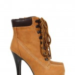 Wonderful brown  timberland high heel boot , Gorgeous Timberland High Heels product Image In Shoes Category