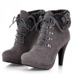 Wonderful grey  fashion boots Product Picture , Charming Wondrous Boot product Image In Shoes Category