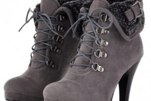 Shoes , Charming Wondrous Boot product Image : Wonderful grey  fashion boots Product Picture