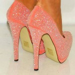 Wonderful  High Heels For Women , Gorgeous High Heels Pink Peach Product Ideas In Shoes Category