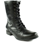 black Steve Madden Troopa Boots  , Charming Boots For Womenproduct Image In Shoes Category