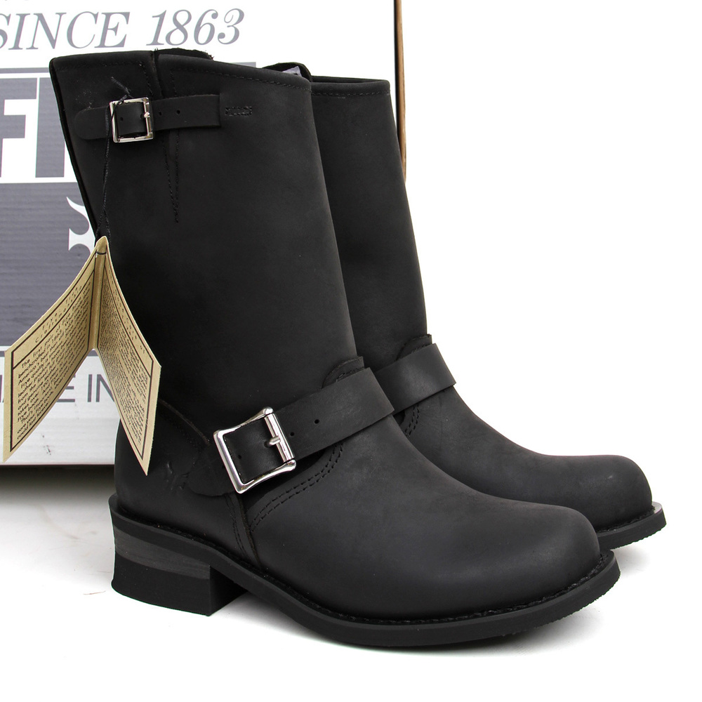 Black Biker Boots For Women Product Lineup : Beautiful Black Moto ...