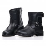 Black Boots Women Collection , Beautiful Black Moto Boots For Women  Product Ideas In Shoes Category