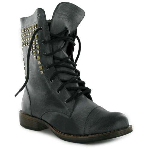 Cheap Black Combat Boots For Women - Cr Boot