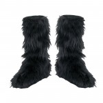 black  furry snow boots product Image , Lovely  Furry Boots Product Lineup In Shoes Category