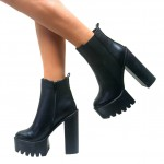 Black  High Heel Wedges , Wonderful  High Heels Block Product Lineup In Shoes Category
