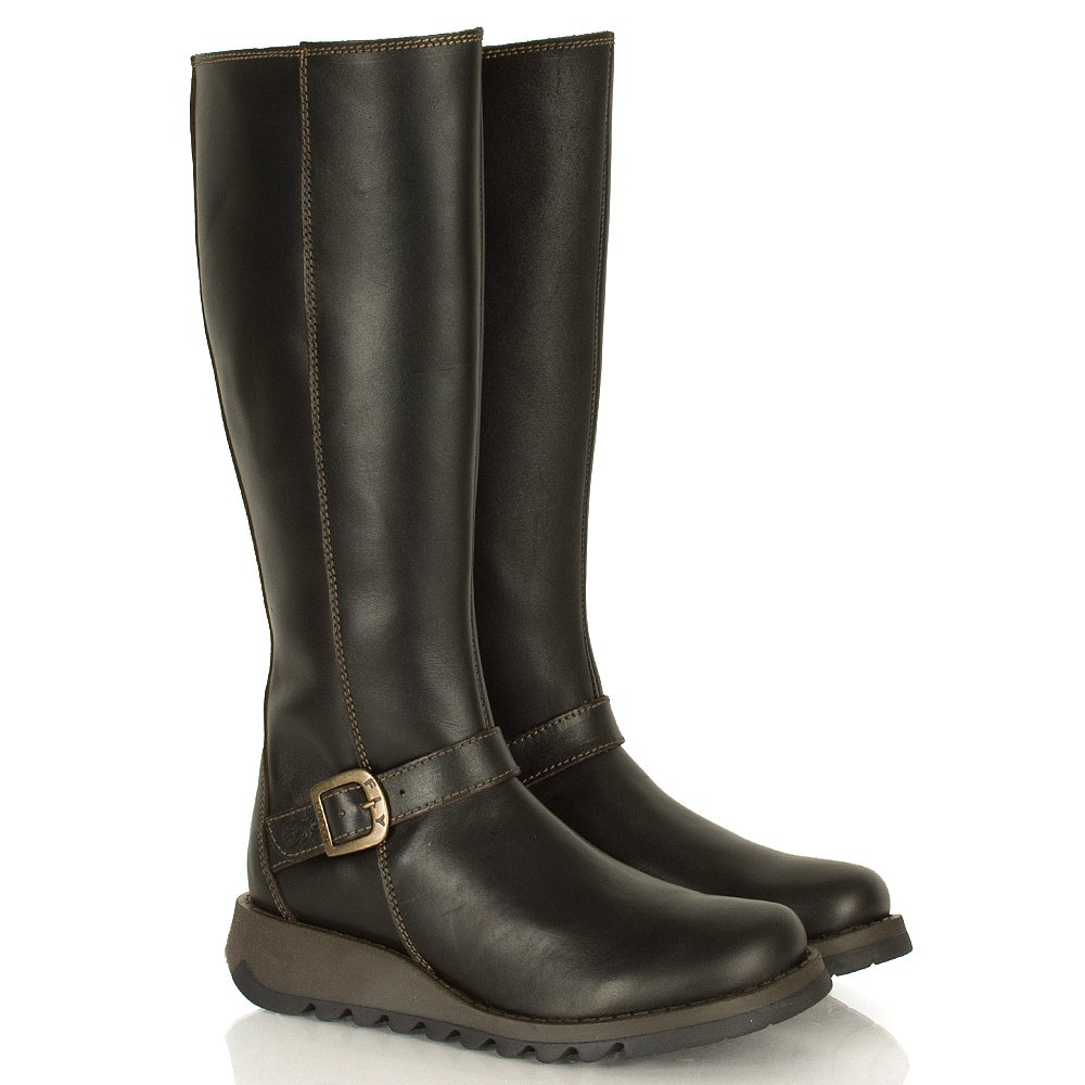 Shoes , 13 Fabulous Brown Leather Boots WomensProduct Ideas : Black Leather Boots Women Product Image