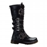 black  leather combat boots product Image , Lovely Gothic Combat Boots Product Ideas In Shoes Category